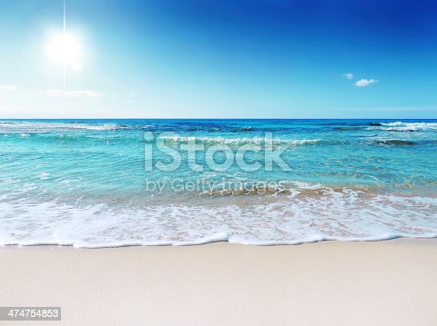 Sun, sea and sand. Beach scene
