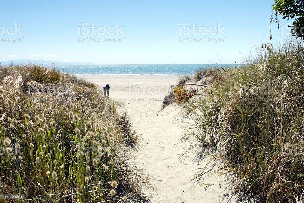 Beach Scene, Summer royalty-free stock photo