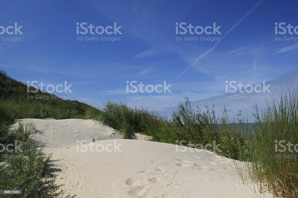 Beach scenes as seen from the dunes II royalty-free stock photo