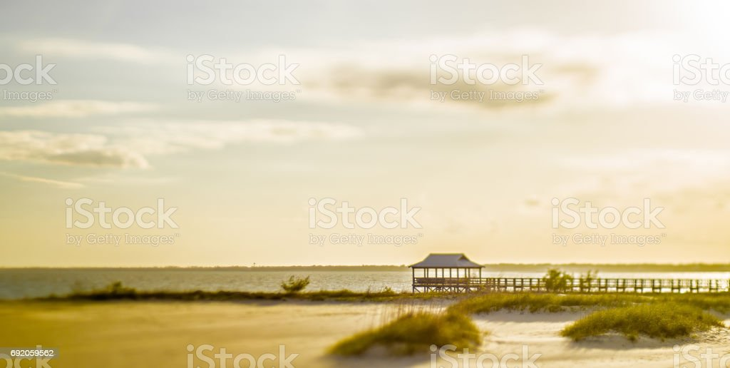 Beach scenes on west boulevard in pass christian and henderson park stock photo