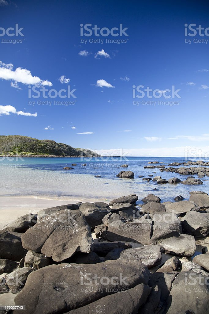 beach scenic, Batemans Bay royalty-free stock photo
