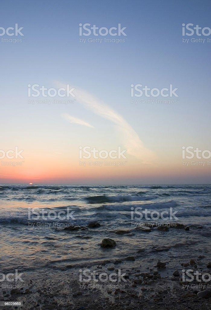 Beach scenics at sunset royalty-free stock photo