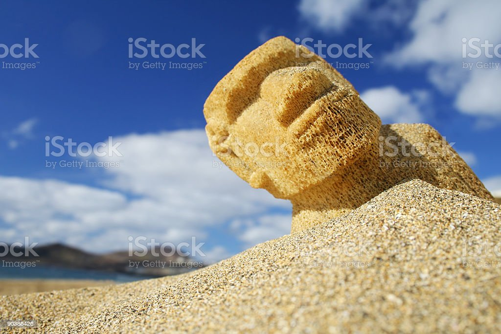 Beach Sculpture royalty-free stock photo