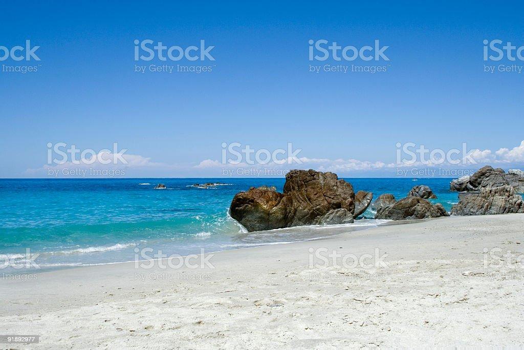 Beach, sea and rocks royalty-free stock photo