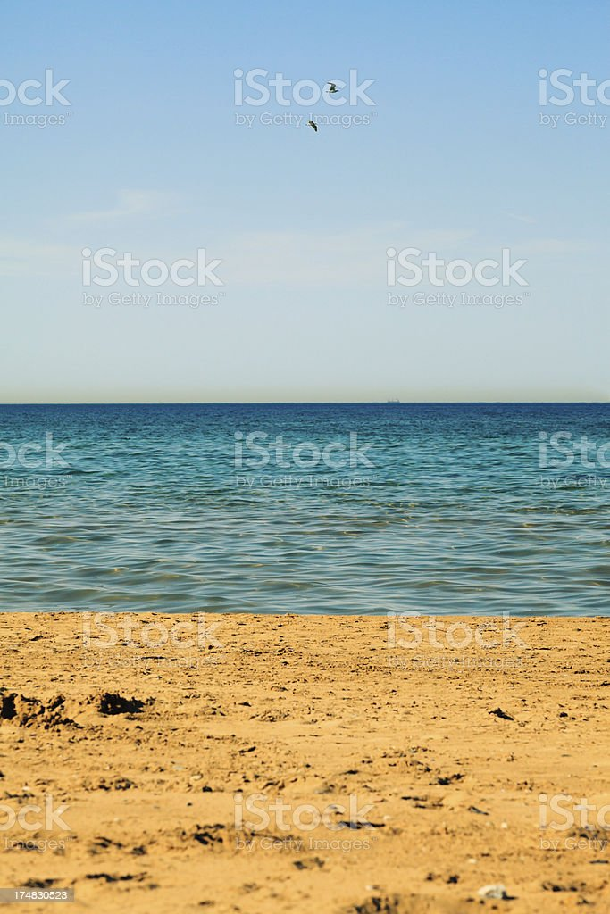 Beach Sea Sky royalty-free stock photo