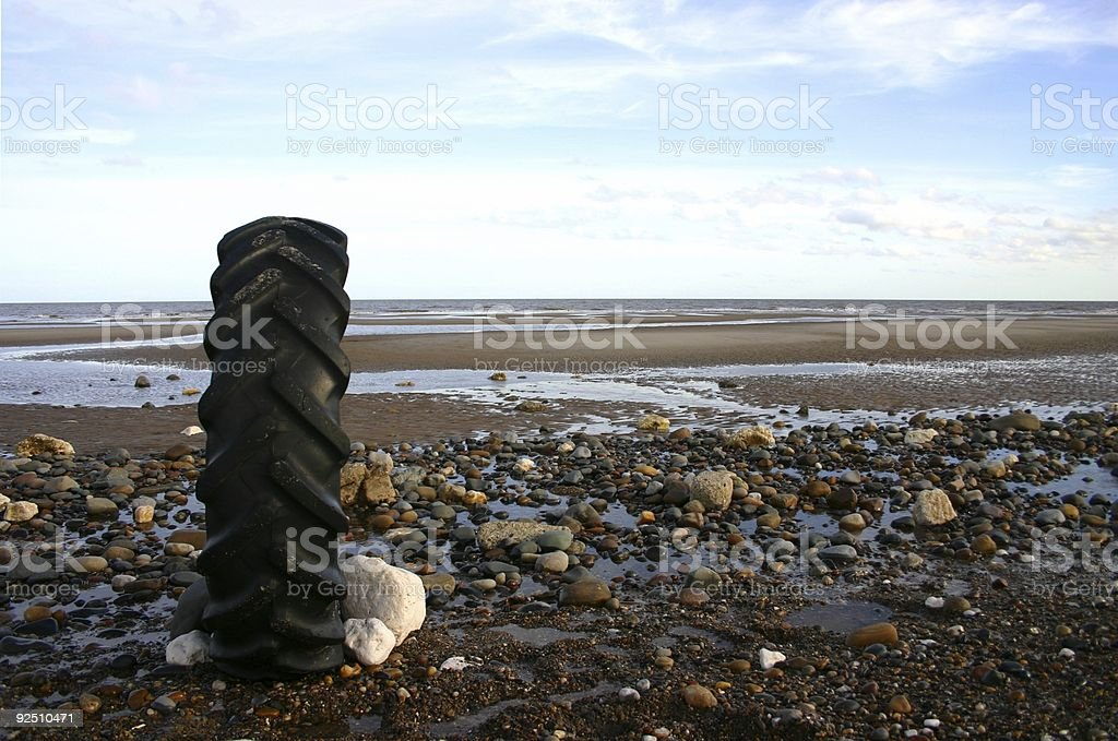 beach series: rolling with the tides royalty-free stock photo