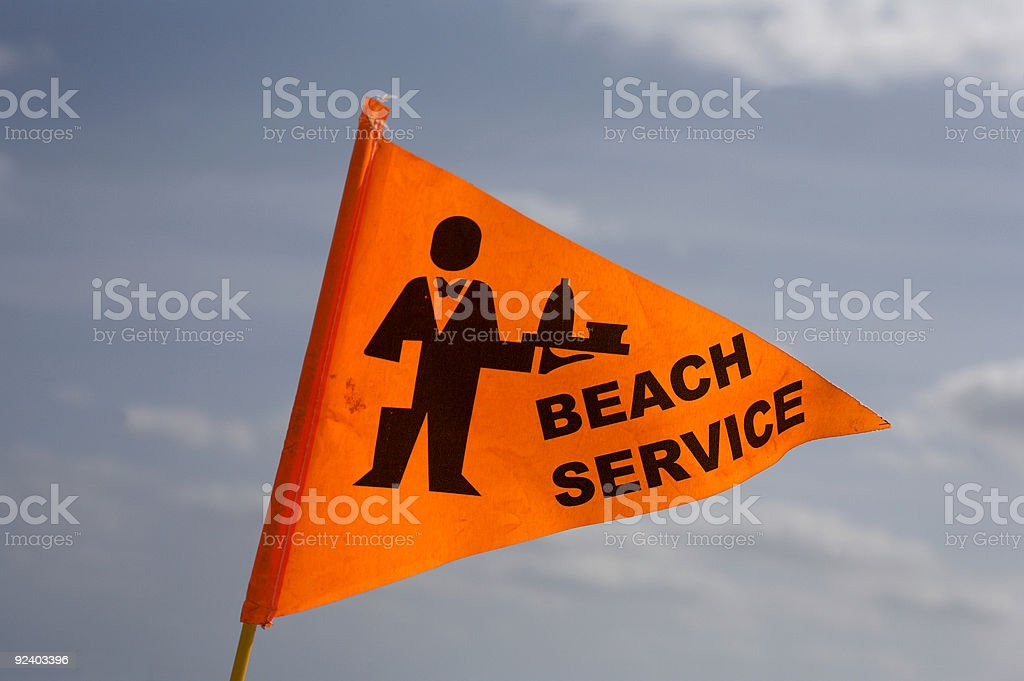 Beach service flag royalty-free stock photo