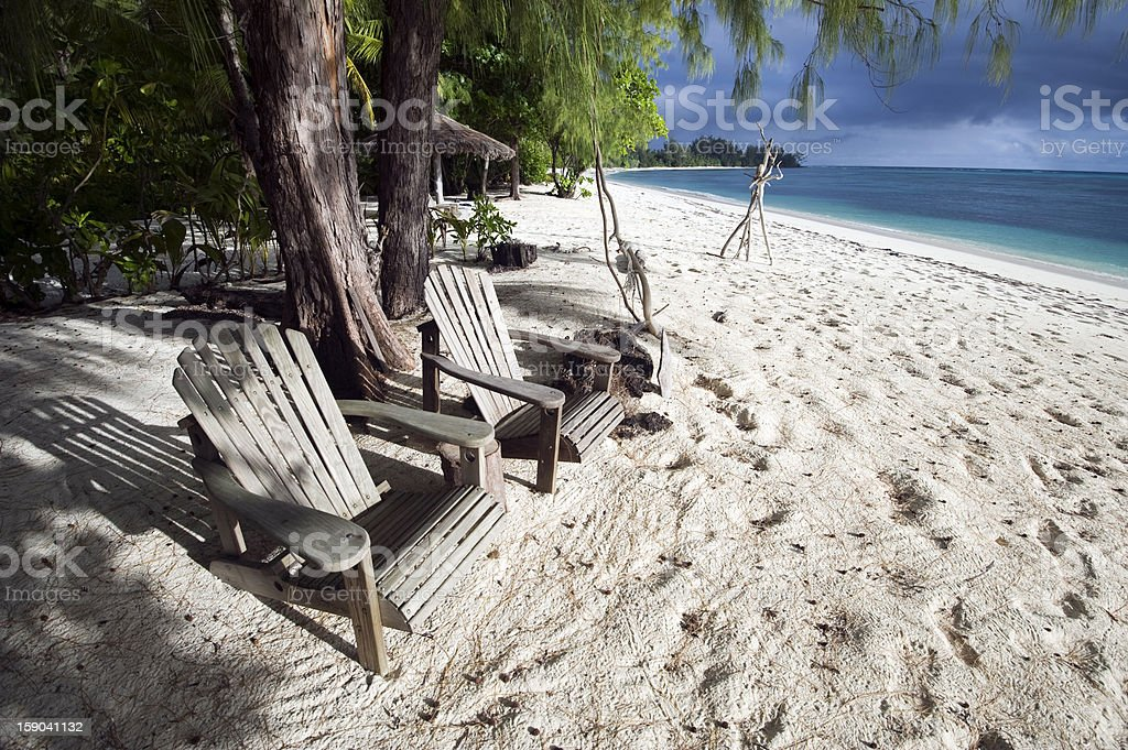 Beach setting stock photo