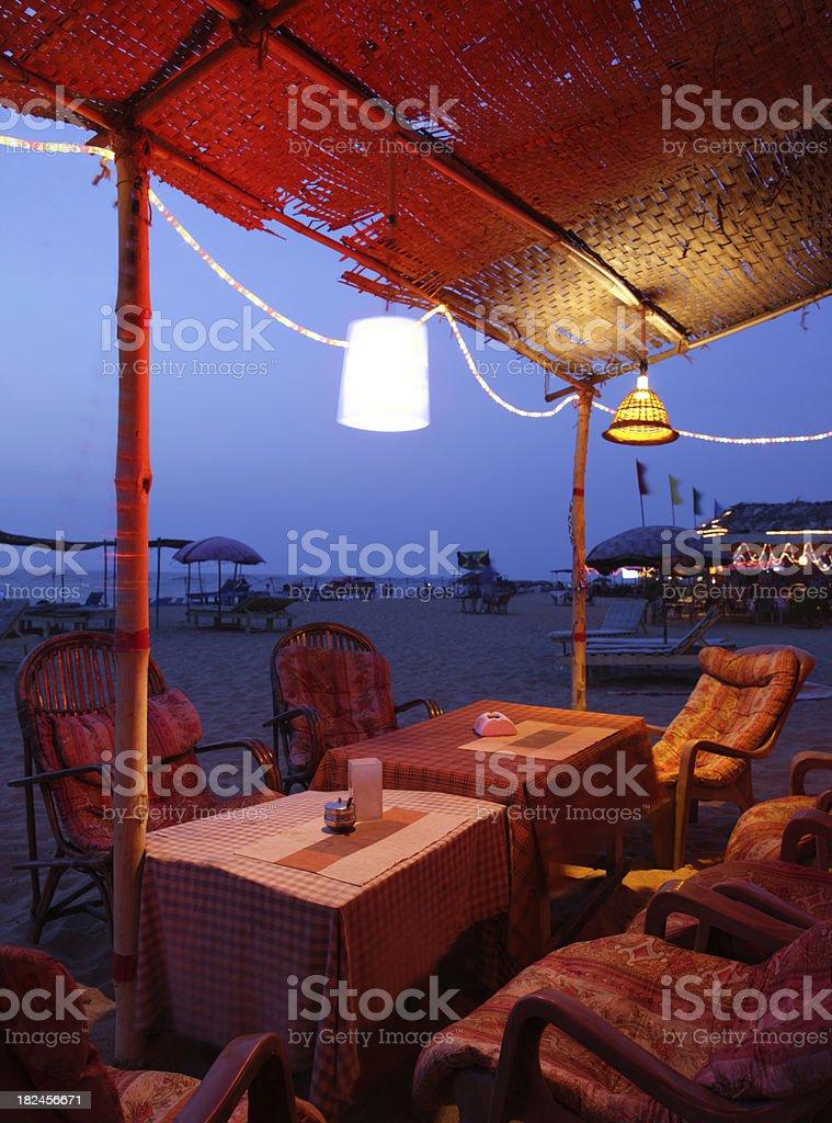 Playa Shack en el norte de Goa foto de stock libre de derechos