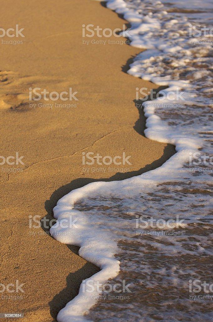 Beach Shoreline Wash royalty-free stock photo