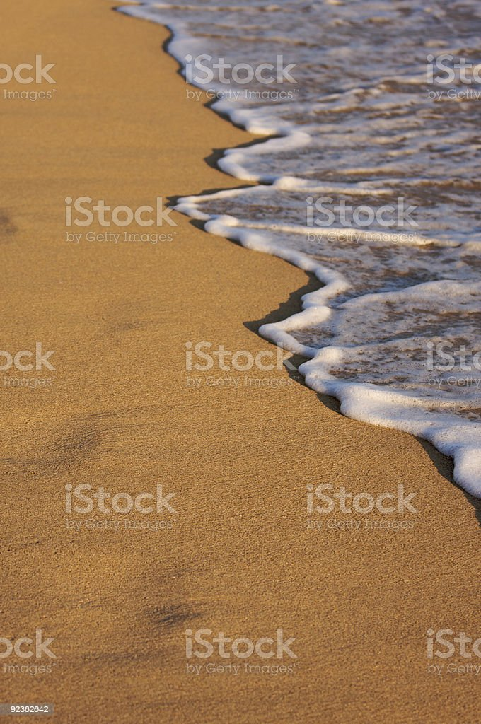 Beach Shoreline Wash royalty-free stock photo