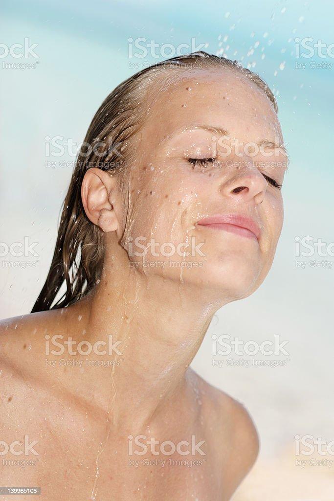 beach shower royalty-free stock photo