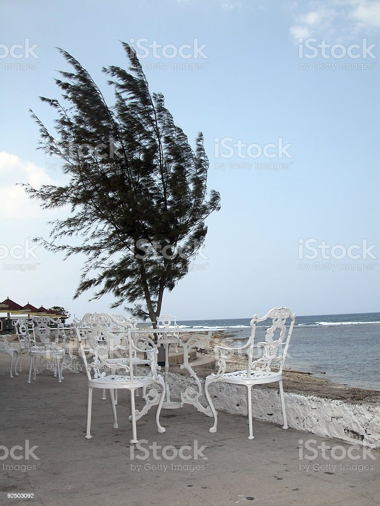 Beach Side Dining royalty-free stock photo