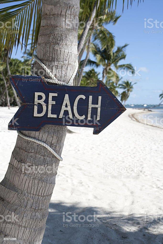 Beach sign near Miami Florida royalty-free stock photo