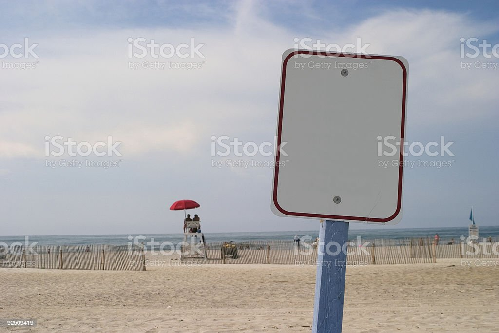 Beach sign royalty-free stock photo