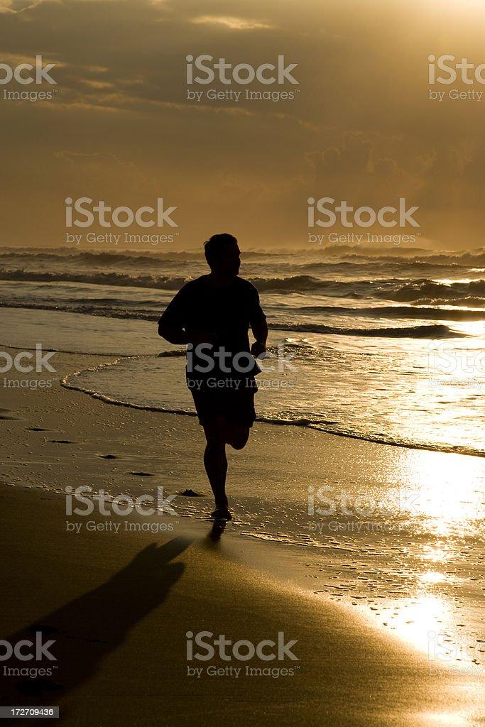 beach silhouette royalty-free stock photo