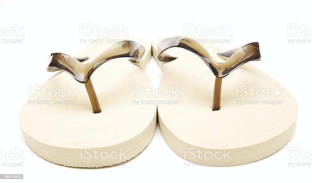 beach slippers royalty-free stock photo
