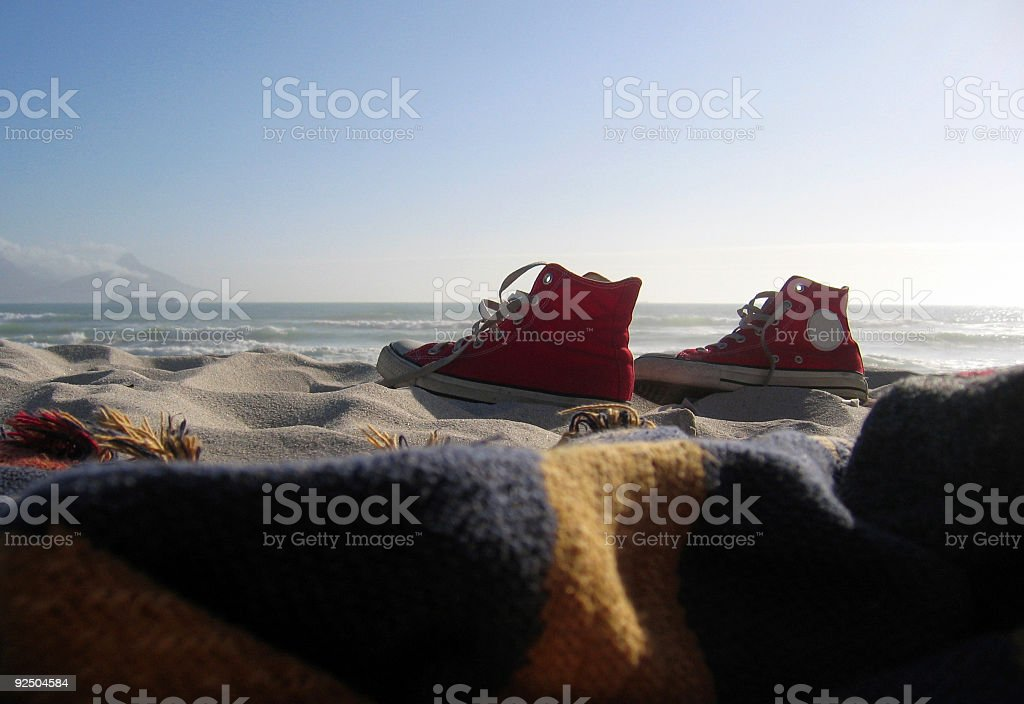 Beach Sneakers royalty-free stock photo