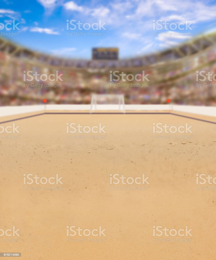 Beach Soccer Arena and Copy Space stock photo