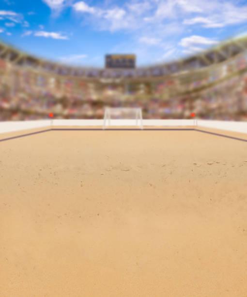 arena de futebol de praia e espaço de cópia - futebol de areia - fotografias e filmes do acervo