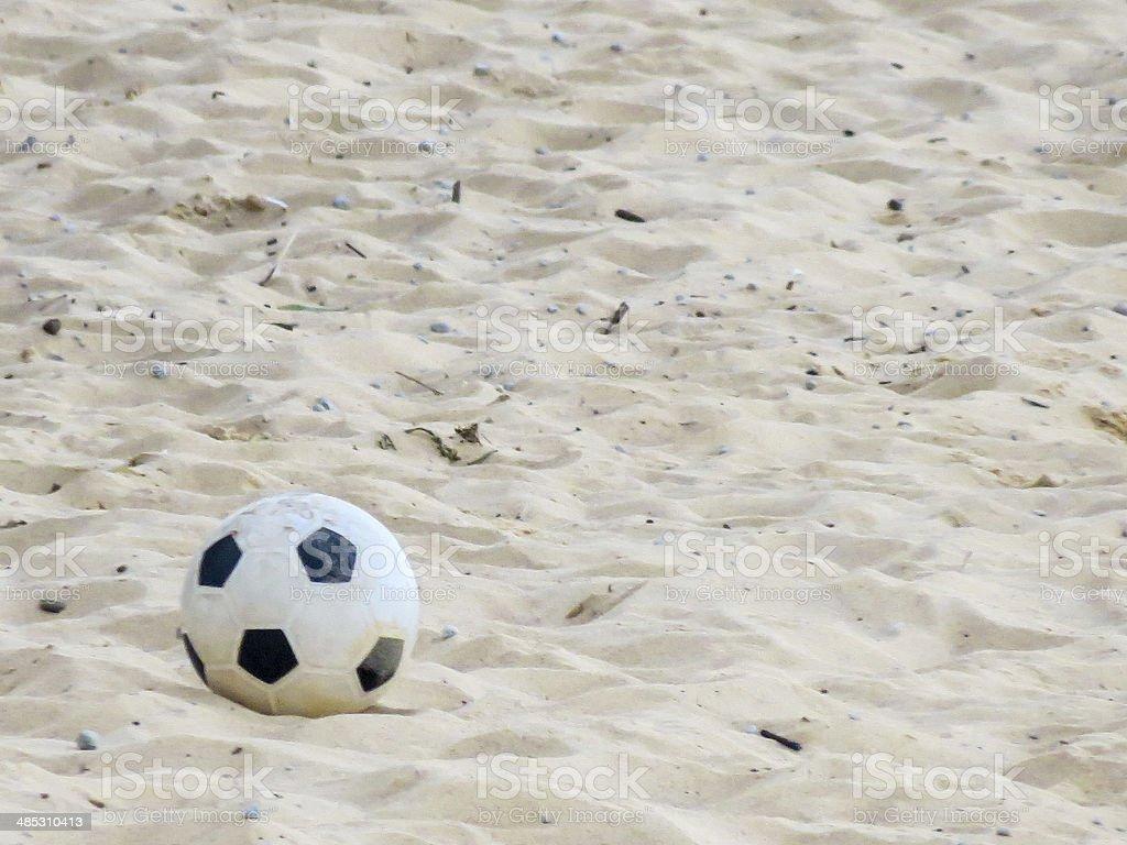 Beach soccer ball stock photo