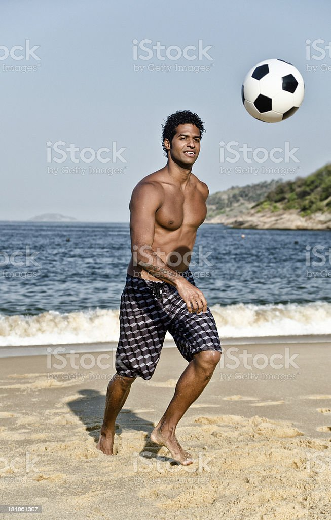 Beach soccer royalty-free stock photo