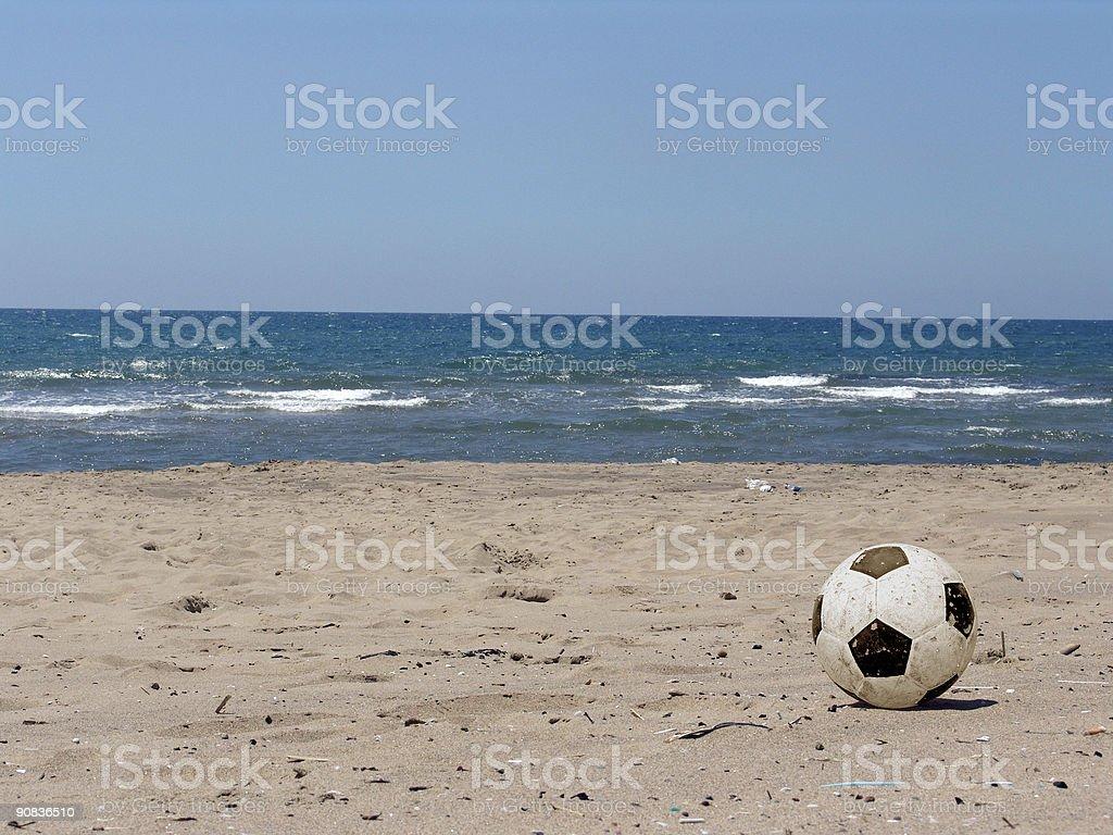beach soccer stock photo