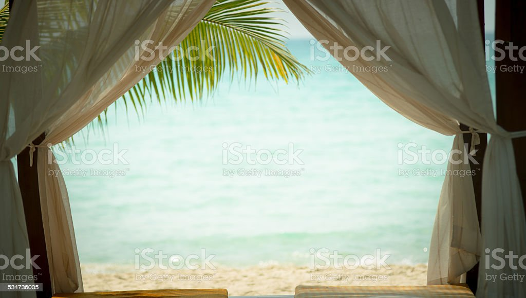 Beach Spa stock photo