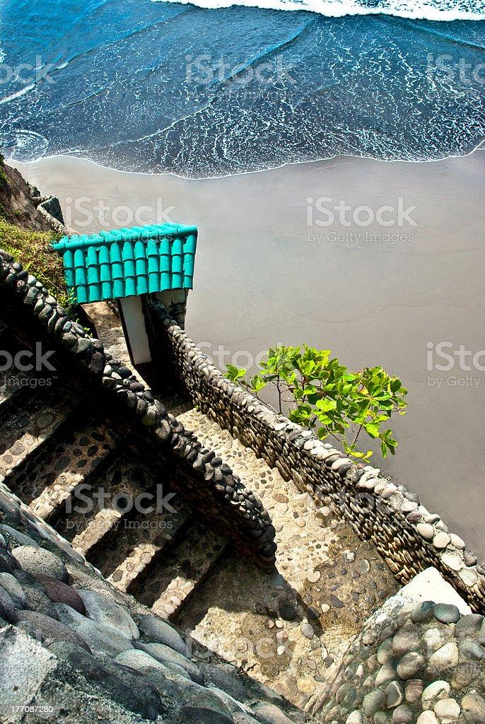 Beach Stairway stock photo