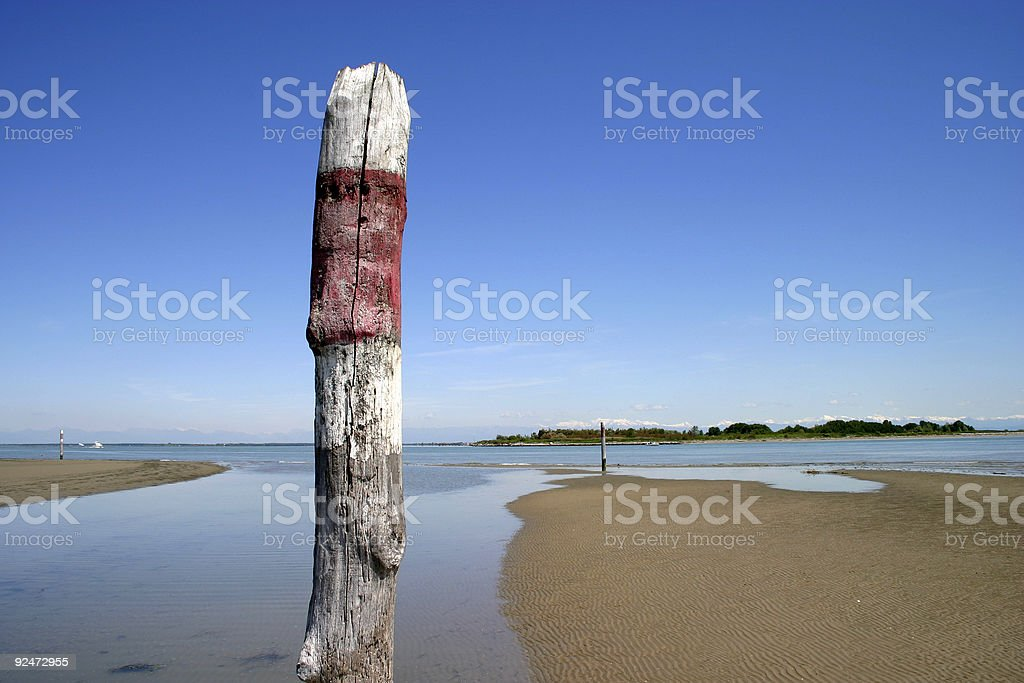 Beach stake royalty-free stock photo