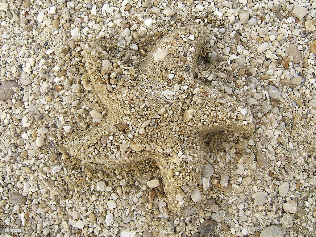 Beach star royalty-free stock photo