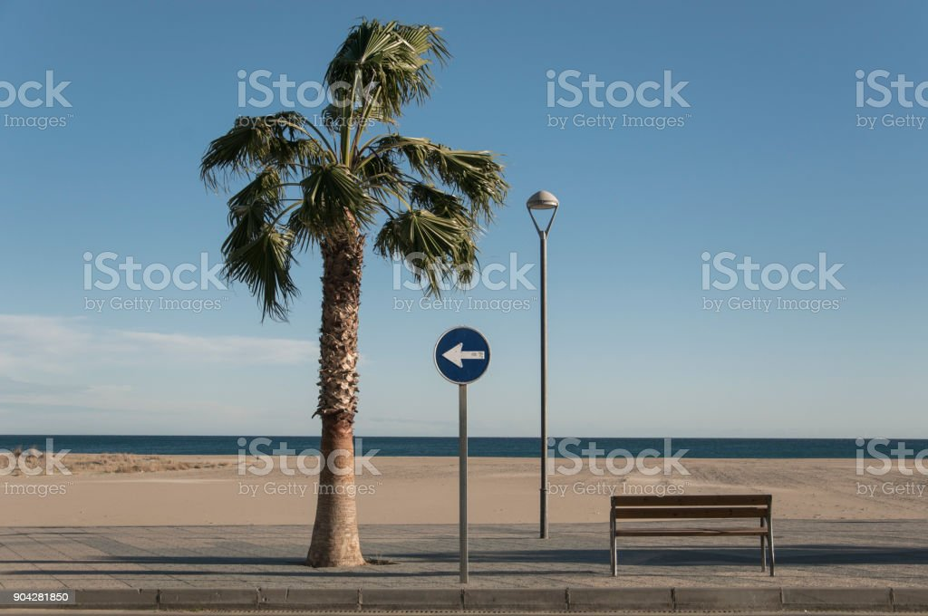 beach still life stock photo