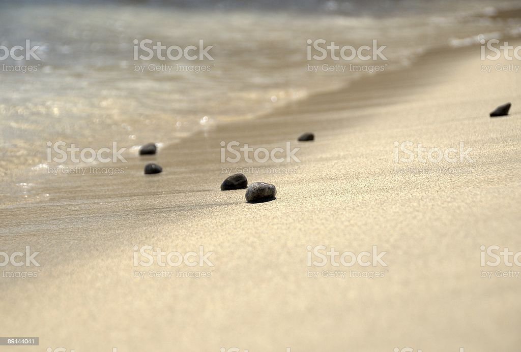 Beach stones (pebbles) by the sea stock photo