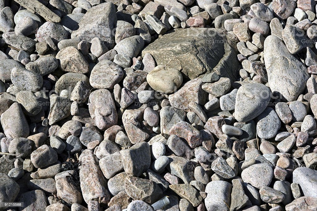 Beach stones royalty-free stock photo