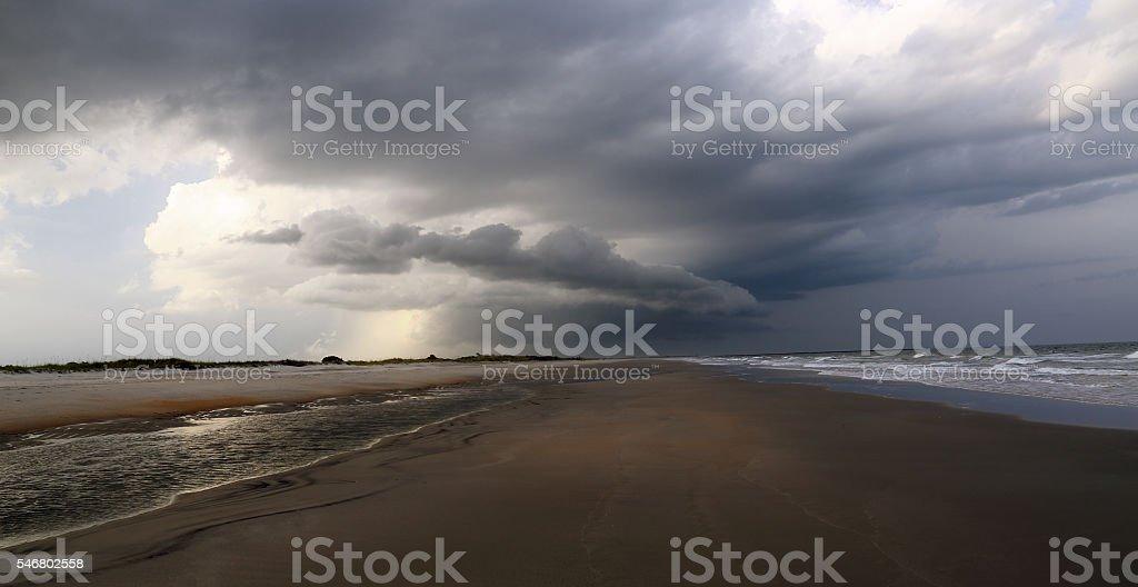 Beach Storm 5 stock photo