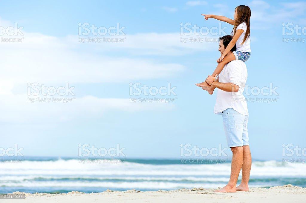 beach stroll family stock photo