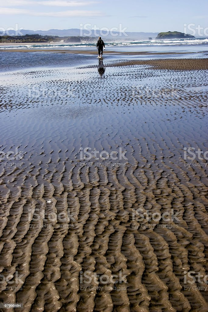 Beach Stroll royalty-free stock photo