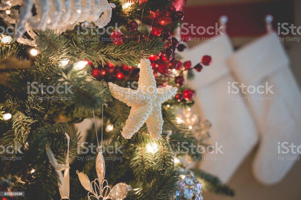 beach style christmas tree royalty free stock photo - Beach Style Christmas Decorations