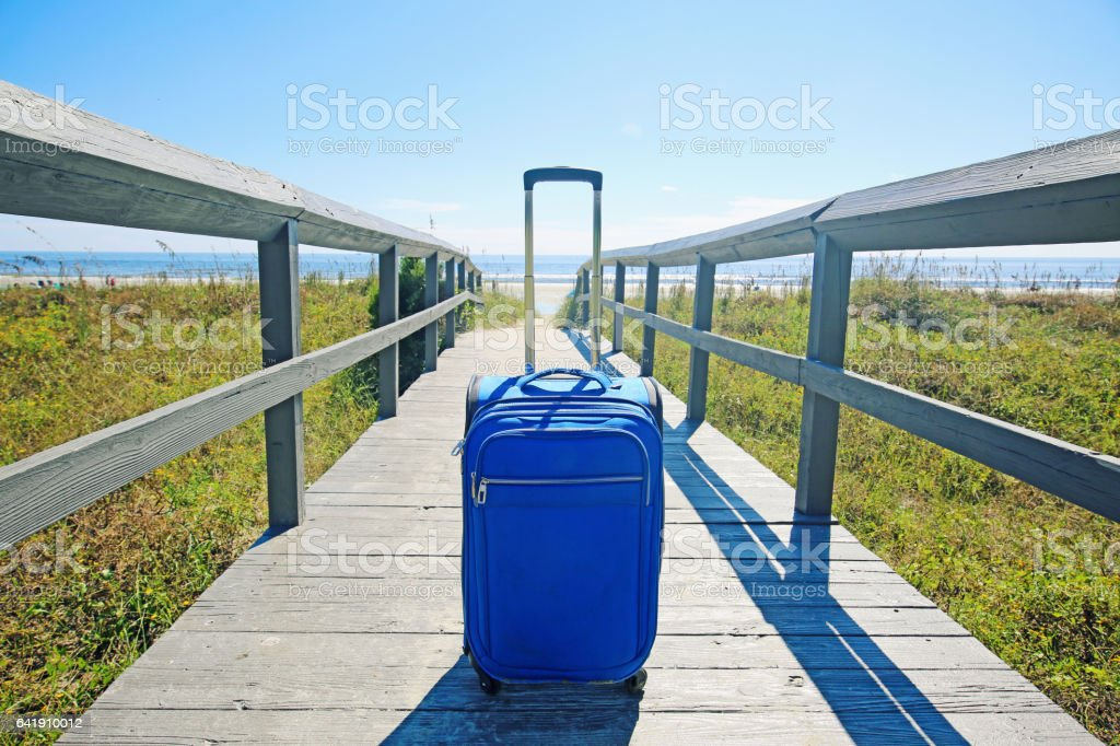 Beach Suitcase stock photo