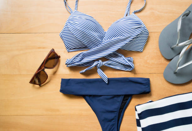 Beach summer clothes and accessories stock photo