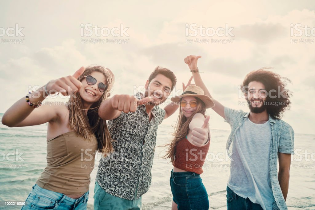 Beach summer holiday sea people concept
