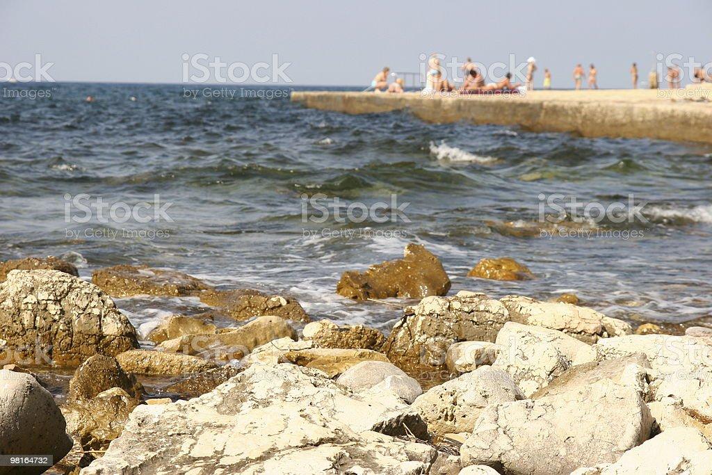 beach summer scene royalty-free stock photo