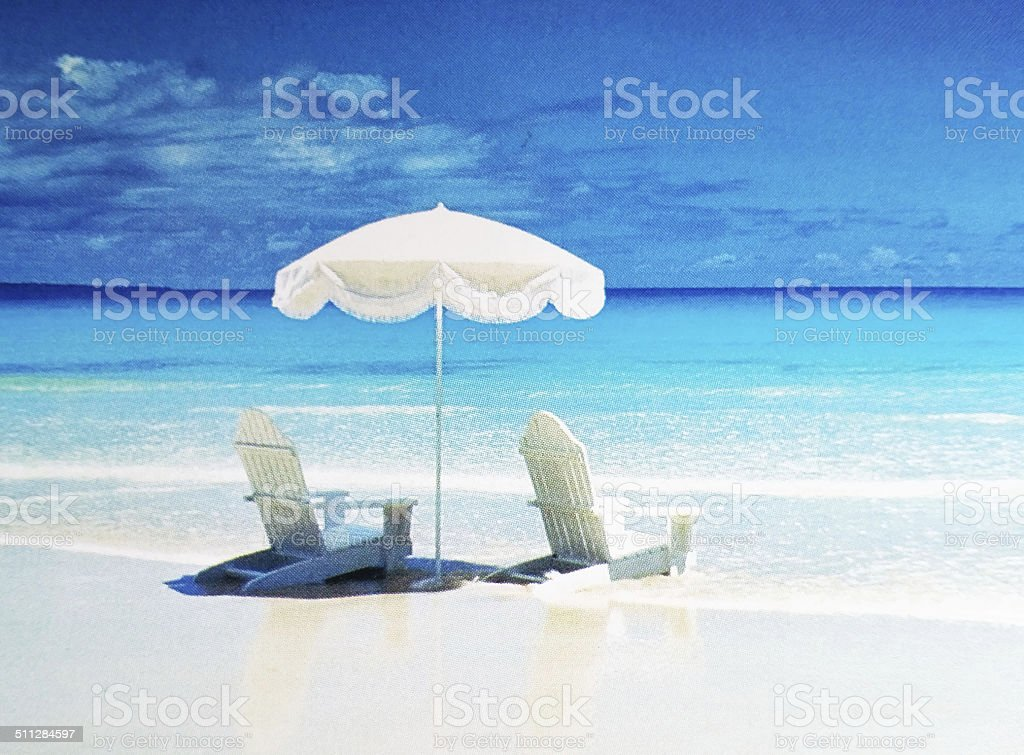 Sonnenschirm Strand Sommer – Foto