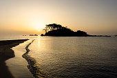 Beach sunrise, island