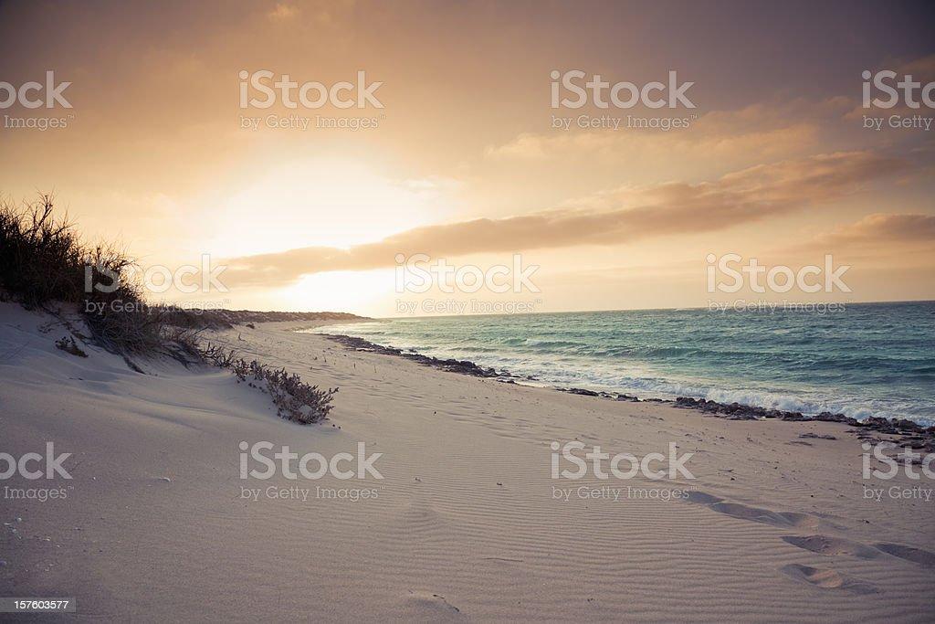 Beach Sunset Australia stock photo