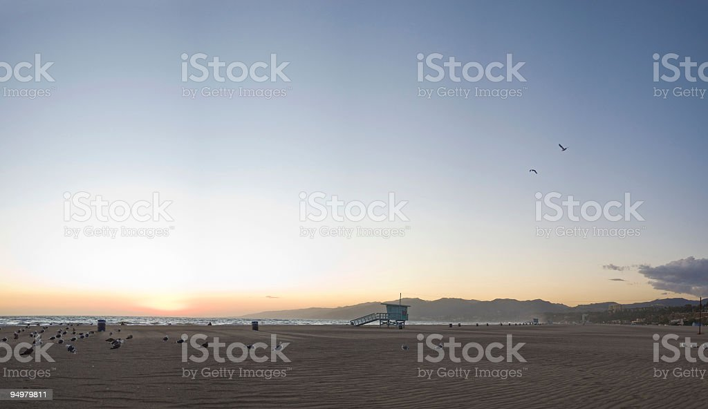 Beach sunset background royalty-free stock photo