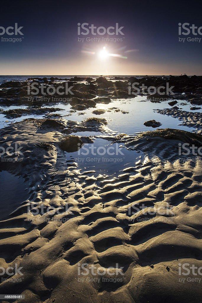 beach sunset landscape royalty-free stock photo