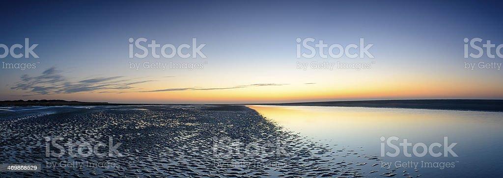 Beach Sunset Panorama royalty-free stock photo