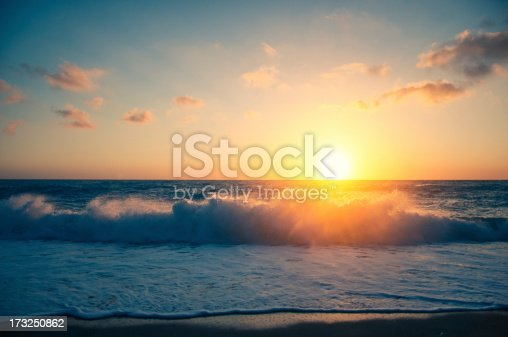 Beautiful beach sunset