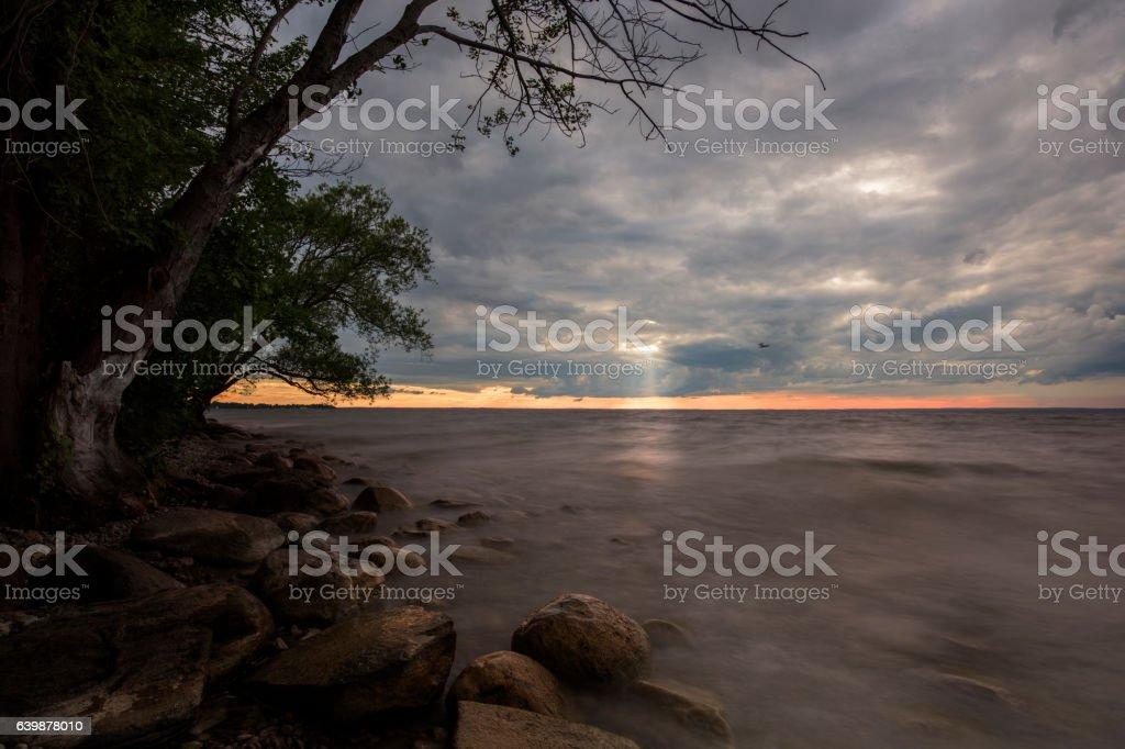 Beach Sunset stock photo